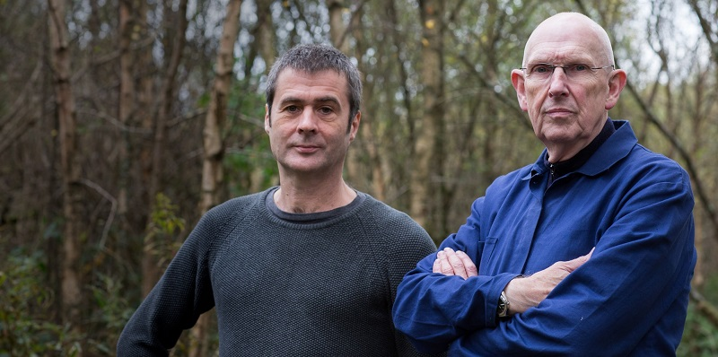 Mike Brookes (left), Creative Research Fellow and Mike Pearson, Emeritus Professor of Performance Studies at the at the Department of Theatre, Film and Television Studies will open the 2018 National Theatre Wales season with Storm.1: Nothing Remains The Same.
